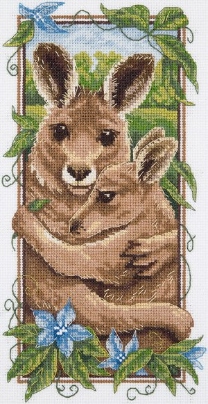 """Набор для вышивания """"Рыжие кенгуру"""""""