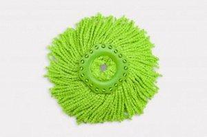 Насадка из микроволокна для швабры aquamatic turbo зеленая