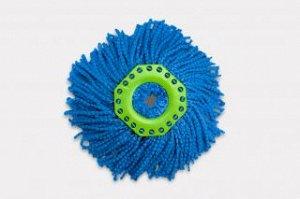 Насадка из микроволокна для швабры aquamatic turbo синяя