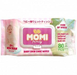 MOMI Family детские влажные салфетки 80 шт. (200х150mm)