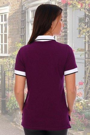 футболка Бренд: Натали Ткань: лакост Состав: 95% хлопок, 5% лайкра Футболка поло женская для спорта или на каждый день. Ткань лакост-пике с 5% добавления лайкры, благодаря чему изделие не дает усадку