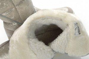 king boots Верх: Экокожа с влагозащитным покрытием/ Натуральная замша Подклад: Мех искусственный Фирменная подошва: ЭВА, резина липучка. . Вид товара:Сапоги женские Цвет: Бежевый Материал подошвы: ЭВ