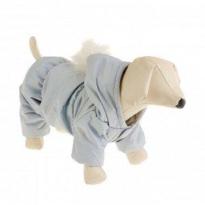Комбинезон для собак с помпоном, размер 2XL (ДС 34-36 см, ОШ 34-36 см, ОГ 44-48 см)