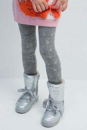 Рейтузы детские для девочек Veneta серый