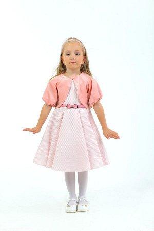 Платье Количество в упаковке: 1; Артикул: СС-ПЛ-18207; Цвет: РозовыйСкачать таблицу размеров                                                Нарядное платье из фактурного жаккарда без рукавов на подкла