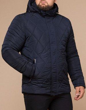 Теплая синяя куртка модного дизайна модель 19121