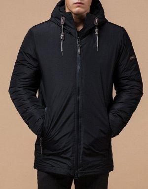 Куртка зимняя теплая черная модель 2066