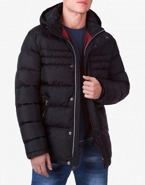 Брендовая куртка короткая черная модель 4302