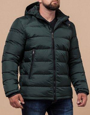 Темно-зеленая куртка качественного пошива модель 48540