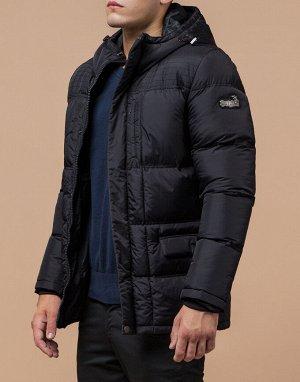 Куртка ультрамодная черная модель 2609