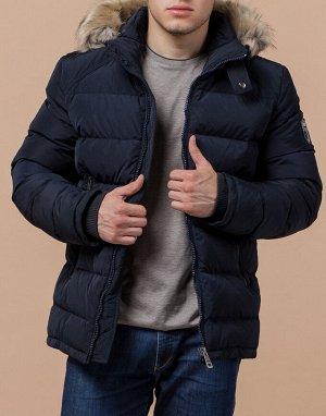 Темно-синяя оригинальная куртка модель 22540
