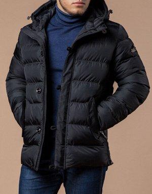 Модная зимняя куртка графитового цвета модель 20180
