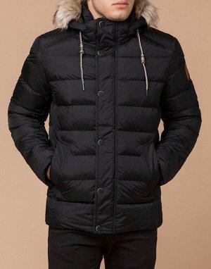 Куртка современная цвет черный модель 27715