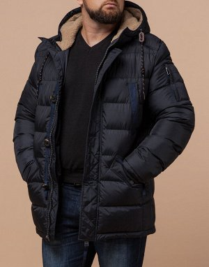 Сине-черная куртка теплая мужская модель 35502
