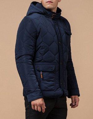 Синяя комфортная куртка мужская модель 2703