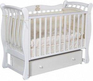 """Детская кровать """"Viola""""(1) автостенка,ящик,универс. маятник (белый) 84654"""