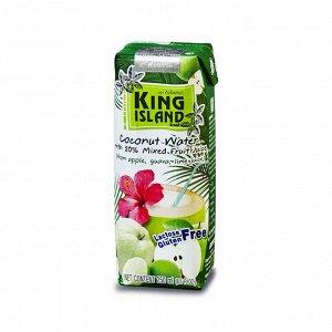 Кокосовая вода (яблоко/гуава /лайм)  KING ISLAND