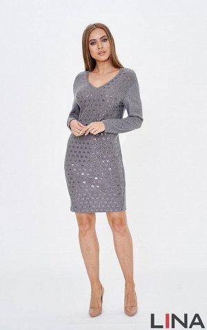 Платье бирюза, , черный, серый, синий. Вискоза 75% полиэстер 20% металлик 5%