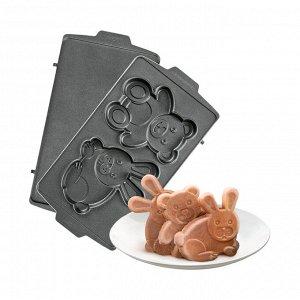 Панель для мультипекаря REDMOND RAMB-30 (Медведь и заяц), Черный