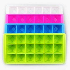 Форма для льда, 18 ячеек, пластик.