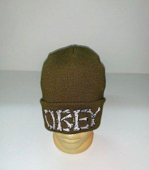 Шапка Надежная шапка цвета хаки  №4005