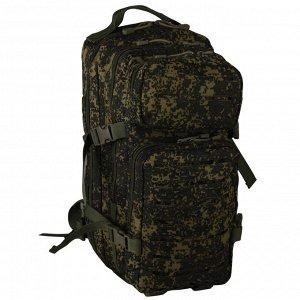 Тактический рюкзак на 25 литров (камуфляж русская цифра) (CH-071) №44 - Удобные регулируемые лямки имеют вертикальные крепежные ремни, одно D-образное кольцо для крепления дополнительного оборудования