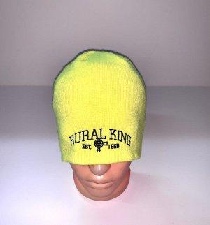 Шапка Яркая шапка с черной надписью  №3984