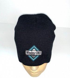 Шапка Черная шапка с оригинальной вышивкой  №4098