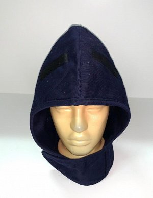 Шапка Темно-синий капор-капюшон  №1734