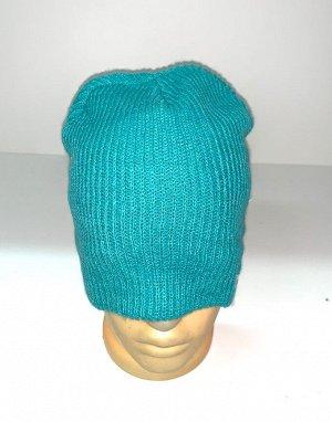 Шапка Бирюзовая топовая шапка  №1697