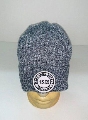 Шапка Молодежная шапка серого цвета  №1535