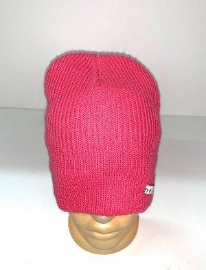 Шапка Топовая шапка розового цвета  №1700