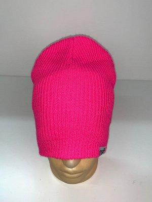 Шапка Ярко-розовая стильная шапка  №1693