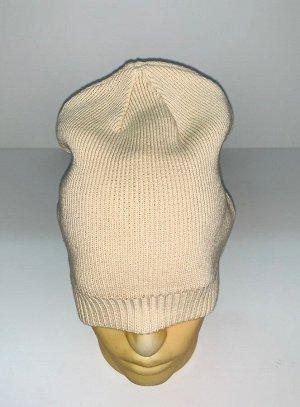Шапка Брендовая бежевая шапка  №1677