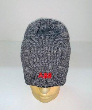 Шапка Серая эксклюзивная шапка  №1532