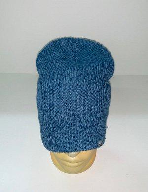 Шапка Топовая шапка синего цвета  №1718