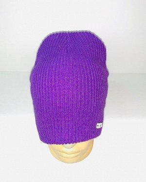 Шапка Яркая фиолетовая шапка  №1719