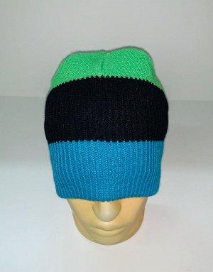 Шапка Трехцветная зачетная шапка  №1819