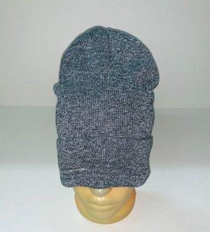 Шапка Серая шапка топового кроя  №1554