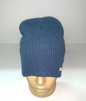 Шапка Топовая светло-синяя шапка  №1687