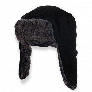 Шапка Зимняя шапка с ушами - практичная модель на искусственом меху. №1788 ОСТАТКИ СЛАДКИ!!!!