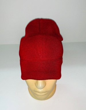 Шапка Вязаная шапка красного цвета  №1850