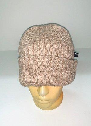 Шапка Бежевая модная шапка  №1883