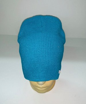 Шапка Топовая голубая шапка  №1878
