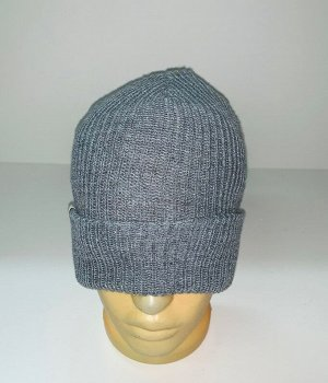Шапка Светло-серая надежная шапка  №1933