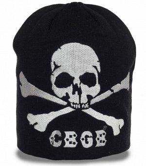 Шапка Крутая мужская шапка с черепом - выделяйся и не мерзни №1400