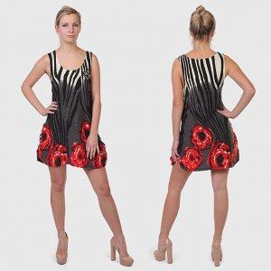 Изящно-сексуальное короткое платье Rana. Женственная модель в стиле Джайф, Самба и Ча-ча-ча №2032 ОСТАТКИ СЛАДКИ!!!!