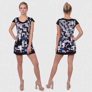 Миленькое платье-туника Le Grenier. Пара стильных кармашков, модный орнамент, приятный трикотаж №2004 ОСТАТКИ СЛАДКИ!!!!