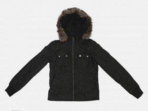 Турецкая женская куртка с капюшоном от LTB - практичная модель черного цвета из новой коллекции популярного бренда. №3804 ОСТАТКИ СЛАДКИ!!!!