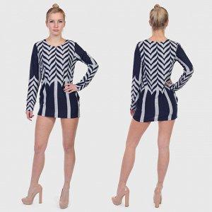 Полуприлегающее платье-туника Young Threads. Носи и как макро платьице, и вместе с джинсами-лосинами, как тунику №5947* ОСТАТКИ СЛАДКИ!!!!